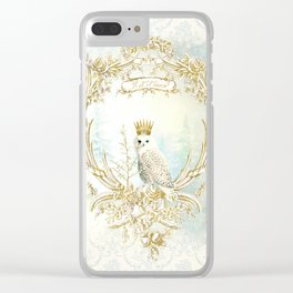 Owl Let it Snow Clear iPhone Case