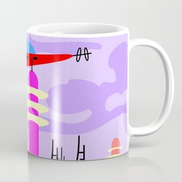 Pink Florida mood,  landscape with spaceship Coffee Mug