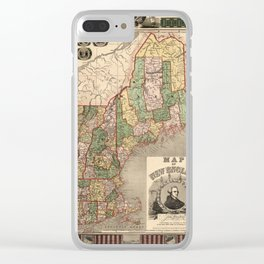 Map of New England 1847 Clear iPhone Case