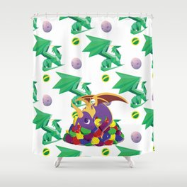 Paws Off Moneybags! Shower Curtain
