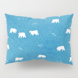 Polar Bears Pattern Pillow Sham