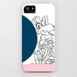 VESSEL - Floral Ink in Peacock & Pink - Cooper and Colleen iPhone Case