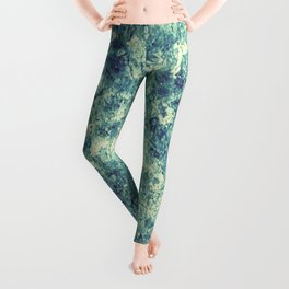Emerald Silver Crust Leggings