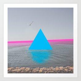 Geometric shadows Art Print