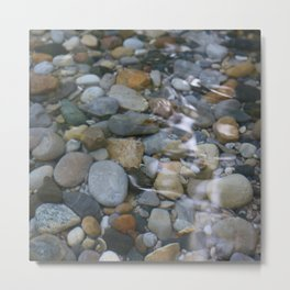 Rocks In the Water Metal Print