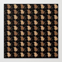 Native American Buffalo Running Canvas Print