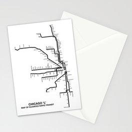 Chicago CTA Map, Chicago Map Art, CTA Art, Chicago Wall Art, Chicago Art, L Train, Art Print Stationery Cards