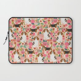 Beagle floral dog breed pattern pet gifts for beagle owners must have beagles Laptop Sleeve