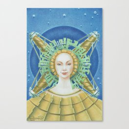 """Portrait with green headpiece"" Canvas Print"