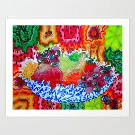 Funky Fruits Art Print