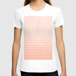 Sweet Life Peach Coral Gradient T-shirt