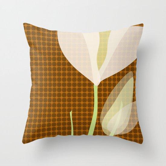 Modern Poppy Flower Throw Pillow