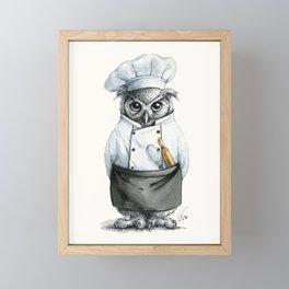 Baker Owl Framed Mini Art Print