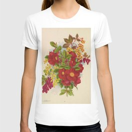 Seed Catalog Garden Floral Fruit Japan Quince Cydonia Pyrus Japonica Berberry Thunbergii Berberry Purpleleaved T-shirt