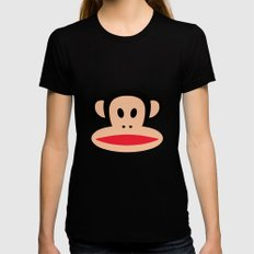 Cute Monkey (Julius Monkey) Womens Fitted Tee Black SMALL