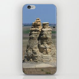 Castle Rock with blue sky iPhone Skin