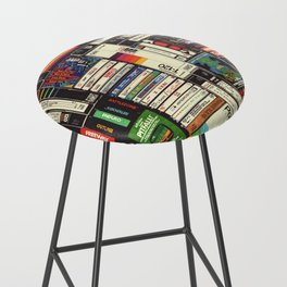 Cassettes, VHS & Games Bar Stool