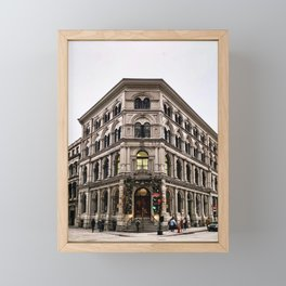 Old Historic Building in Vieux Montreal Old Town Framed Mini Art Print