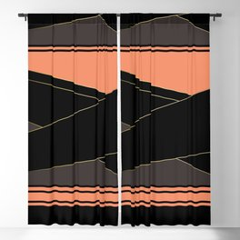 Angelica . Coral , black , brown Blackout Curtain