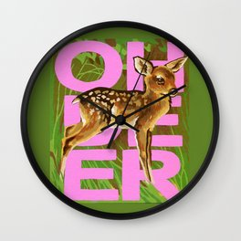 Vintage Paint By Number PBN Baby Oh Deer Wall Clock