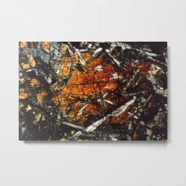 Pyroxene Crystals Metal Print