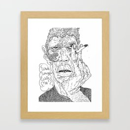 what's wrong with me? Framed Art Print