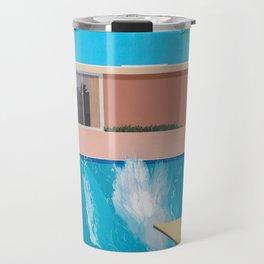 David Hockney - A Bigger Splash Exhibition Poster Print Art Travel Mug