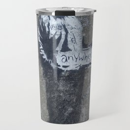 Banksy Hitchhiker to Anywhere Travel Mug