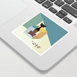 Schrodinger's cat Sticker