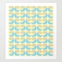 Trippy Wave Pattern Art Print
