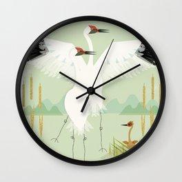 Whooping Crane Wall Clock