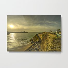 Newquay Great Western Beach Metal Print