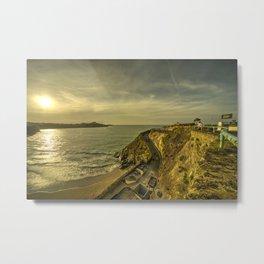 Newquay Great Western Beach Metal Print