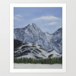 Kananaskis Rockies Art Print