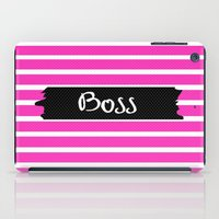 boss iPad Cases featuring Boss by msstephiebaby