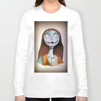 nightmare before christmas Long Sleeve T-shirts featuring Sally from nightmare before Christmas by Melissa Rodriguez