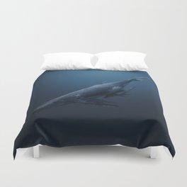 Whales family Duvet Cover