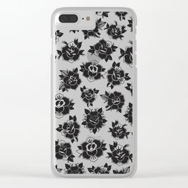 Traditional Roses Pattern Clear iPhone Case
