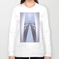 cityscape Long Sleeve T-shirts featuring Cityscape by Irfan Gillani