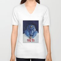 yeti V-neck T-shirts featuring Yeti by ----