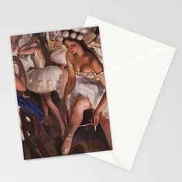 Ballerina & Ballerinas In The Dressing Room oil on canvas portrait painting by Zinaida Serebriakova Stationery Cards