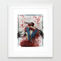 evil Framed Art Prints featuring Evil by Spectacle Photo
