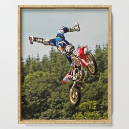 Motocross stuntman Serving Tray