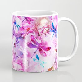 Dragonfly Lullaby in Pink and Blue Coffee Mug