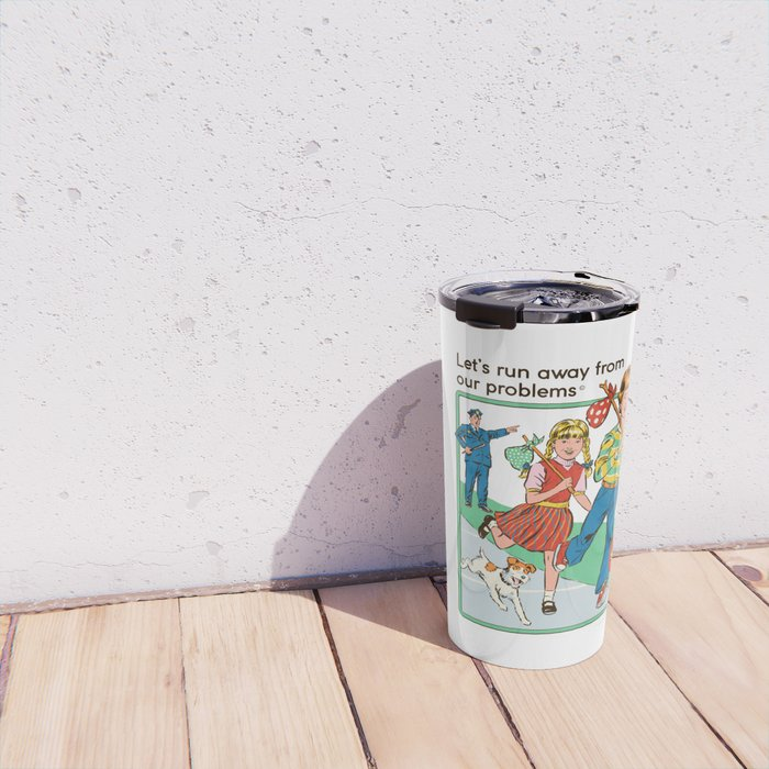 Let's Run Away Travel Mug