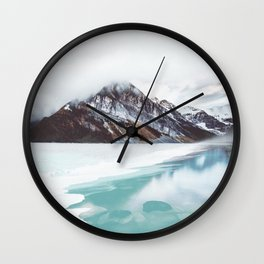 Canadian Mountains Wall Clock