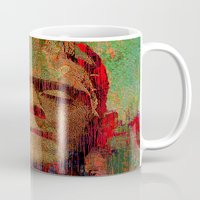 frankenstein Mugs featuring frankenstein by Ganech joe