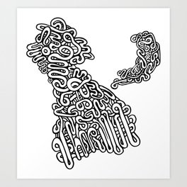 Jelita Rysunek #1 Art Print