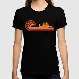 Retro Style Singapore Skyline T-shirt