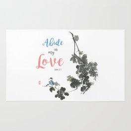 Abide in my Love Rug